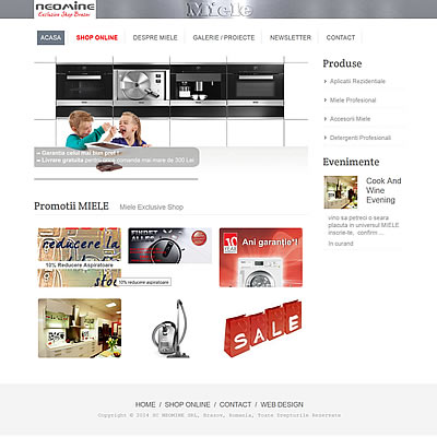 website prezentare, e-commerce